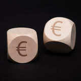 Dice with euro symbol Stock Image