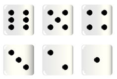 Dice Faces Royalty Free Stock Image