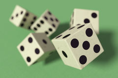Dice falling down Royalty Free Stock Image