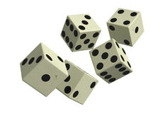 Dice falling down Stock Images