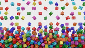 Dice falling Royalty Free Stock Photo