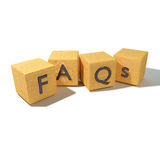 Dice FAQs and Frequently Asked Questions Royalty Free Stock Images