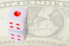 Dice- financial concepts Stock Images