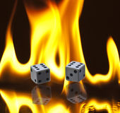 Dice And Flames Royalty Free Stock Photography