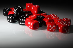 Dice in floodlit Royalty Free Stock Photo