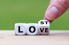 Free Dice Form The Expression `lost Love`. Royalty Free Stock Photo - 163748035