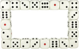 Dice frame royalty free stock photo