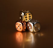 Dice gamble risk Royalty Free Stock Photography