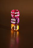 Dice gamble risk Stock Image