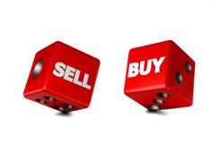 Dice gambling Stock Image