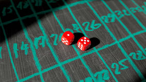 Dice for gambling Royalty Free Stock Photo