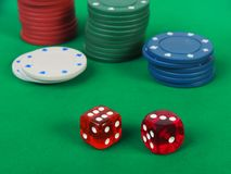 Dice gambling game Stock Photography