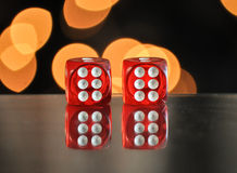 Dice for gambling. Number six Royalty Free Stock Images