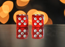 Dice for gambling. NumberNumber five. Dice for gambling. The Number five royalty free stock photo