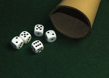 Dice game Stock Image