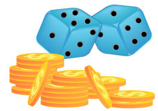Dice Game Royalty Free Stock Images