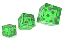 Dice game abstract Royalty Free Stock Photo