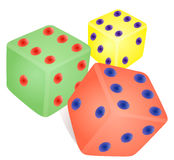 Dice game coloring. Stock Photos