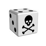 Dice game danger in 3D Royalty Free Stock Photography