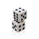 Dice game isolated on white background. Clipping path Royalty Free Stock Photography
