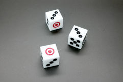 Dice Game. Item on gray background stock images