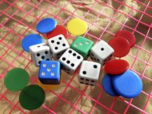 Dice Games stock photography