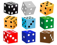 Dice for games Stock Photography