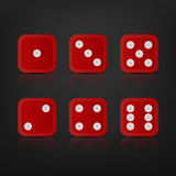 Dice for games turned on all sides Royalty Free Stock Photo