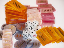Dice and gaming chips Stock Image