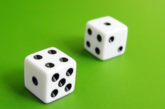 Dice on green Royalty Free Stock Photo