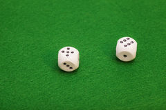 Dice On A Green Stock Photo