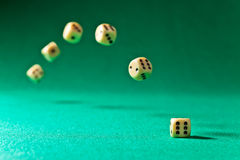 Dice  on green table Royalty Free Stock Photography