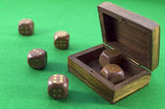 Dice on green 2 Royalty Free Stock Photo