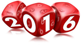 Dice 2016 Happy New Year Stock Images