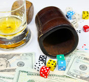 The dice have fallen Royalty Free Stock Photo