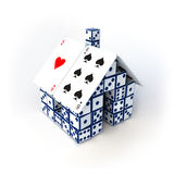 Dice house Royalty Free Stock Photos