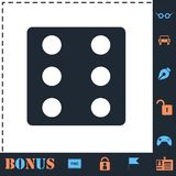 Dice icon flat stock illustration