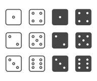 Dice icon set, vector symbol. vector illustration