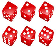 Dice. Illustration of a set of red dices royalty free illustration