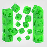 Dice illustration simple to edit for design Royalty Free Stock Photography