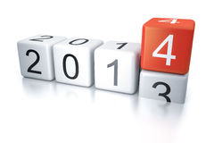 Dice 2014. An image of new years eve dice 2014 Royalty Free Stock Images