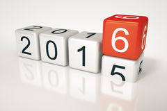 Dice 2016. An image of new years eve dice 2016 Stock Photography