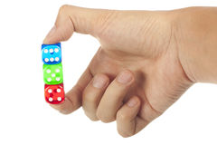 Free Dice In Hand Royalty Free Stock Images - 22134409