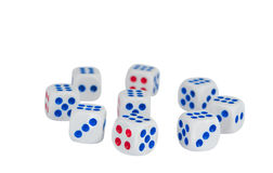Dice isolated Royalty Free Stock Images