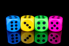 Dice isolated on black background Royalty Free Stock Photo