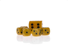 Dice isolated on white Royalty Free Stock Images
