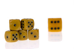 Dice isolated on white Royalty Free Stock Photos