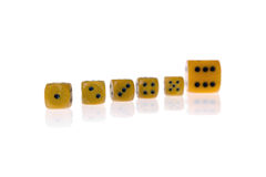 Dice isolated on white Stock Photos