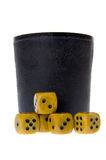 Dice isolated on white Royalty Free Stock Photography