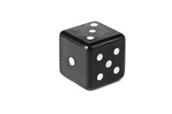 Dice isolated on white. Close-up dice isolated on white Stock Image